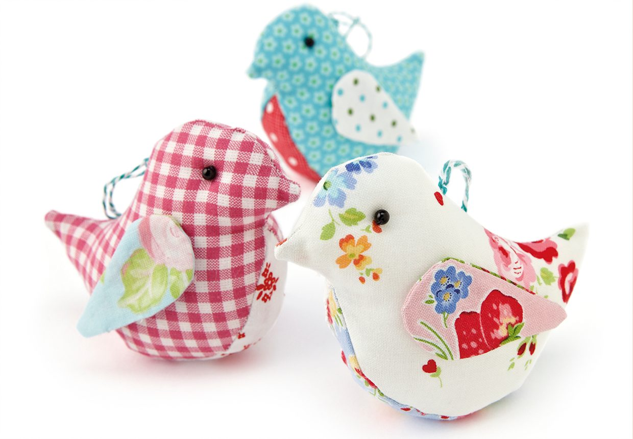 How to sew patchwork bird softies