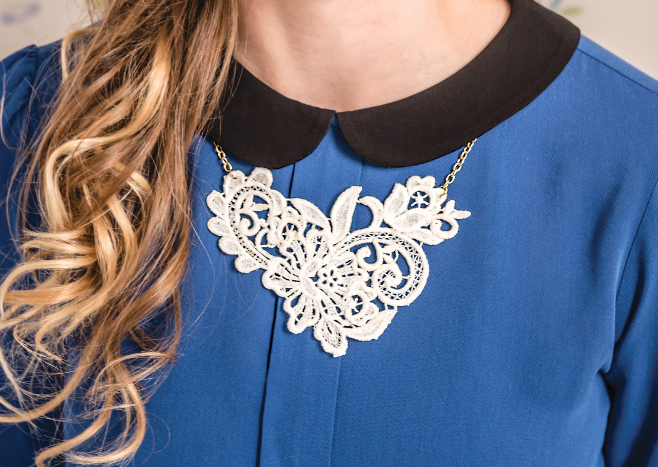 How to make a lace necklace
