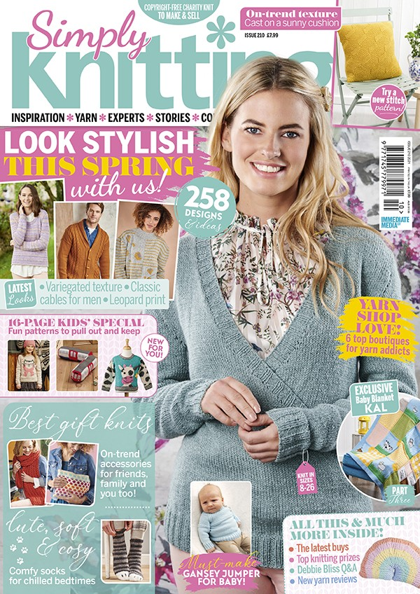 Simply Knitting 210 cover