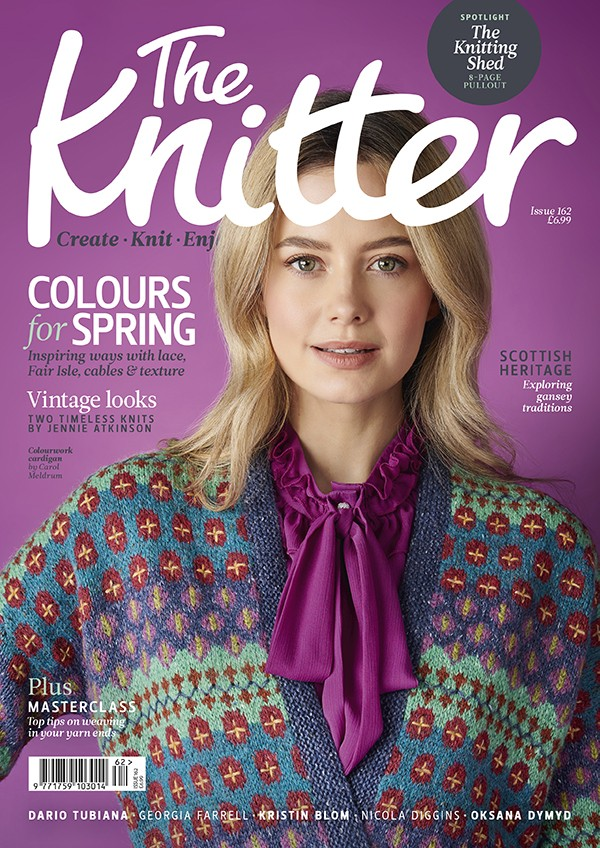 The Knitter 162 cover