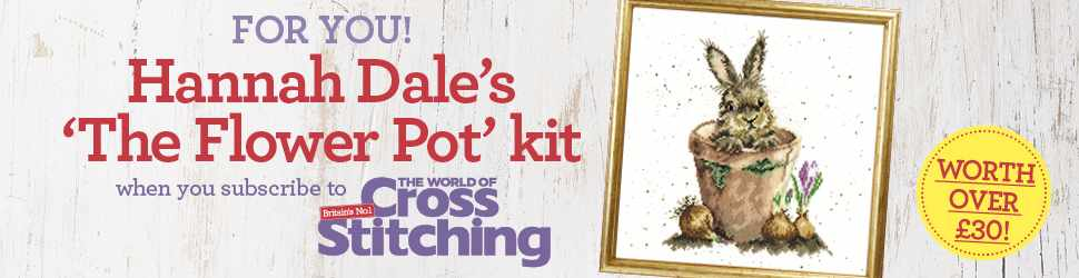 Subscribe to The World of Cross Stitching and get a Hannah Dale kit