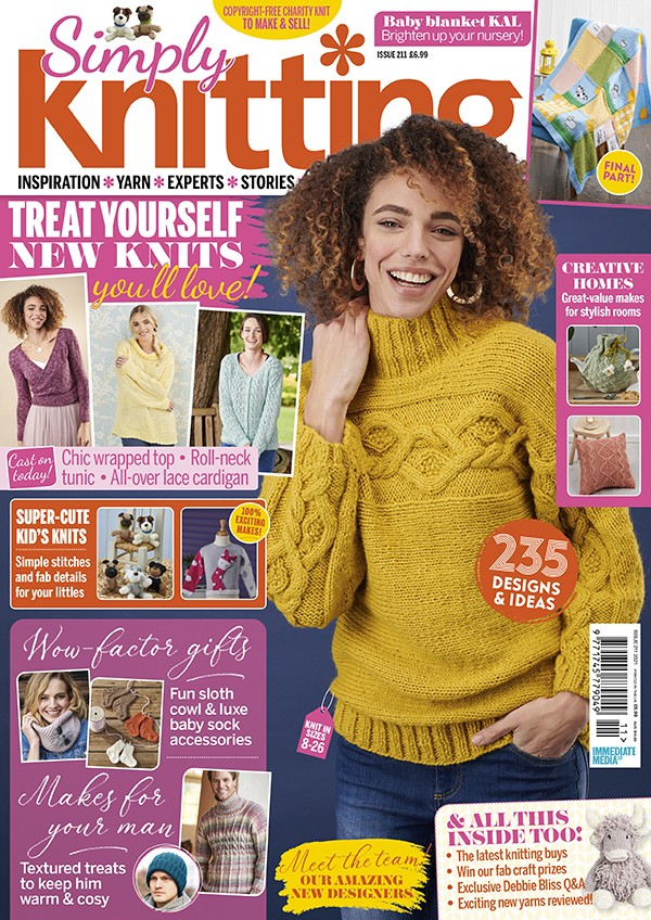 Simply Knitting issue 211 cover
