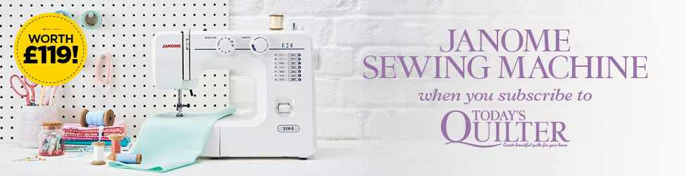 Subscribe and get a Janome Sewing Machine!