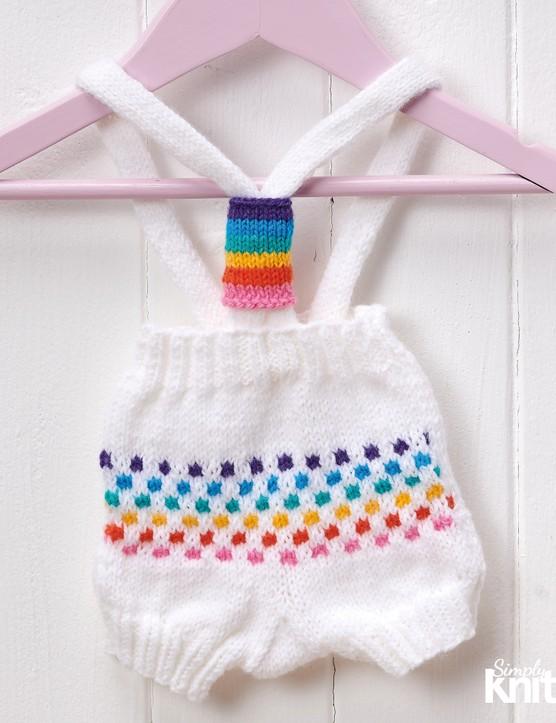 Simply knitting 214 baby romper KAL
