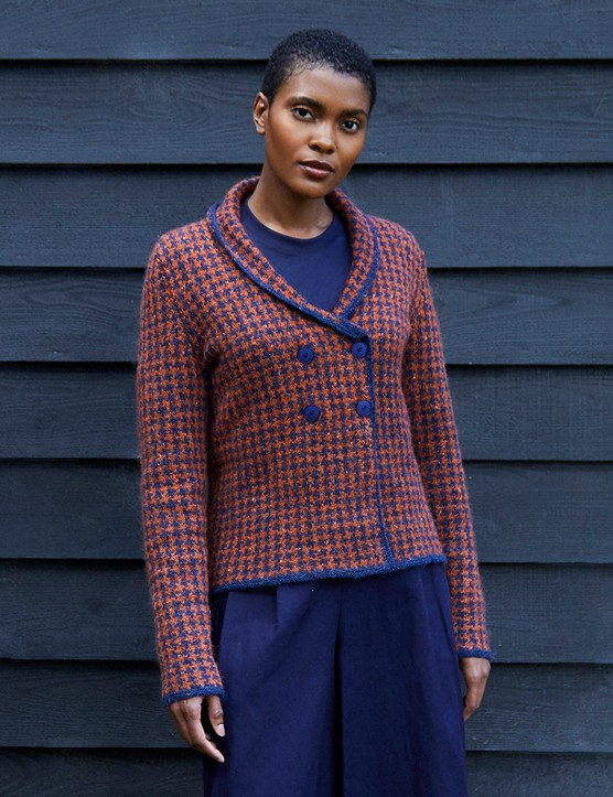 Enjoy style and warmth with this cardigan by Debbie Bliss