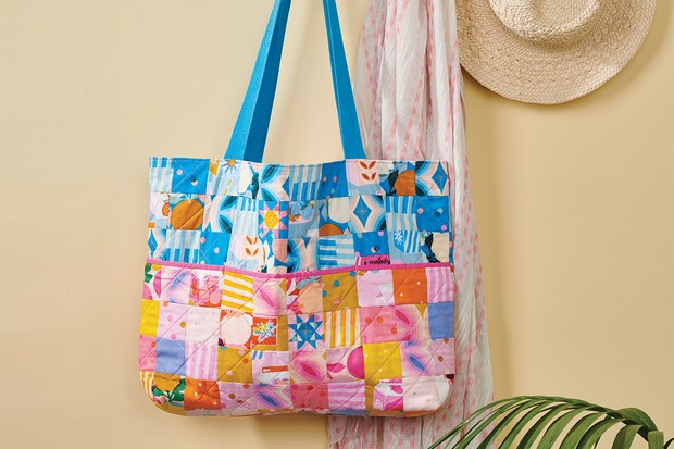 How to make a quilted bag – pixel perfect patchwork bag pattern
