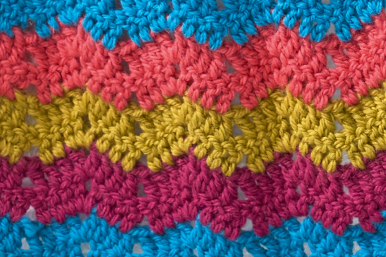 How to crochet chevrons