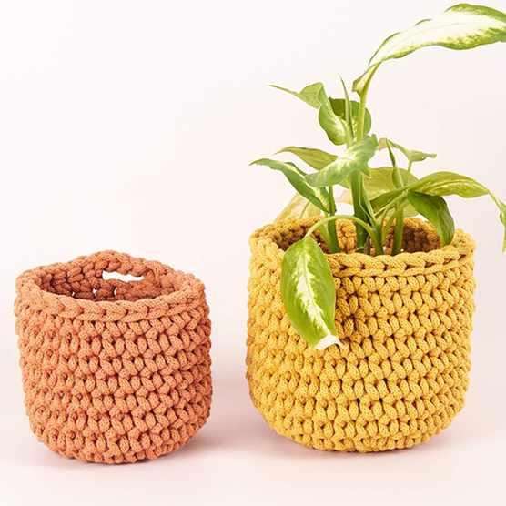 crochet baskets crochet kit