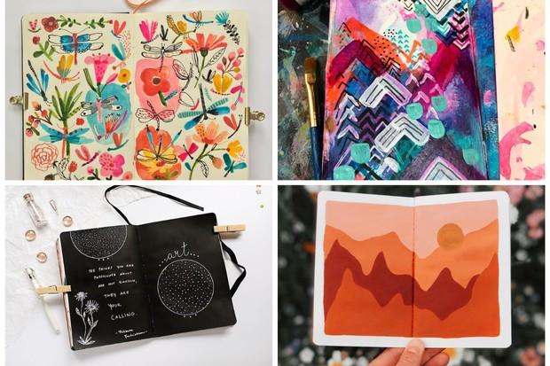 18 art journal ideas to spark your creativity