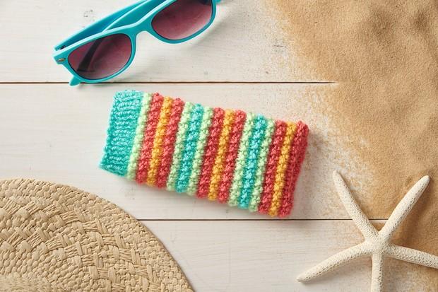 Glasses case knitting pattern