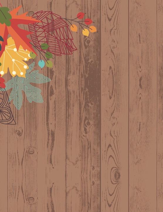 Autumn leaves paper p1
