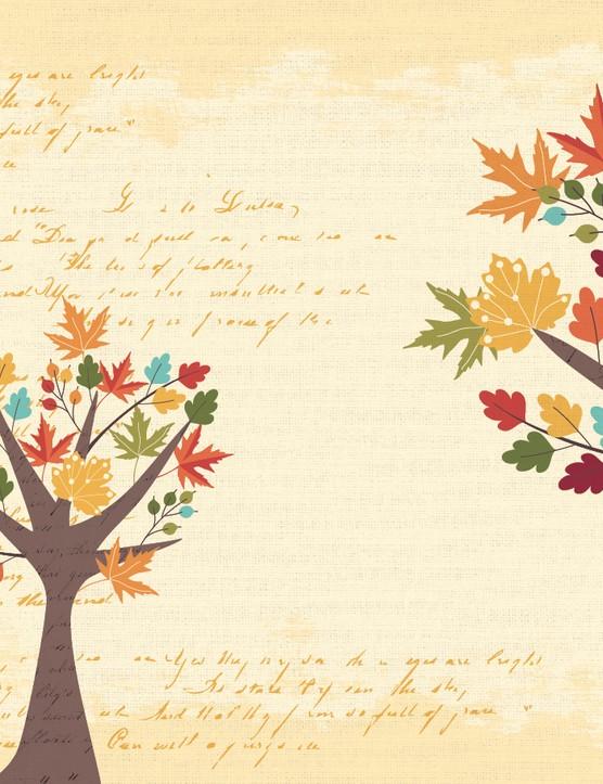 Autumn leaves paper p2