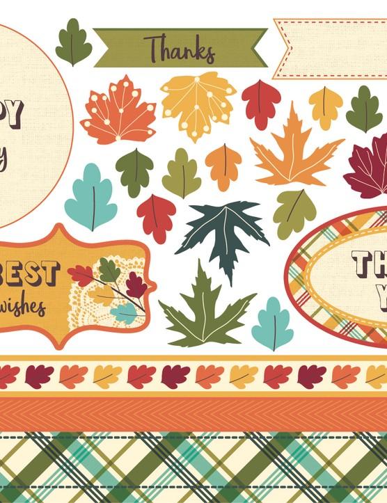Autumn leaves paper p7