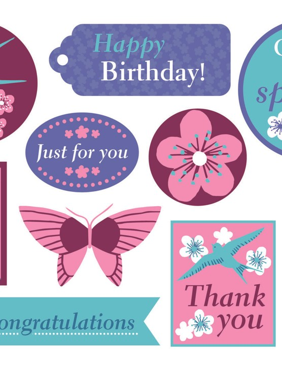 Free swallows and butterfly paper - p4