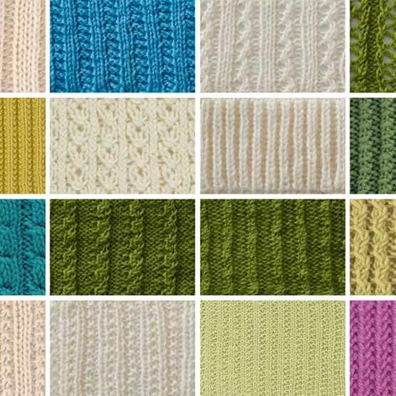 Rib stitch knitting