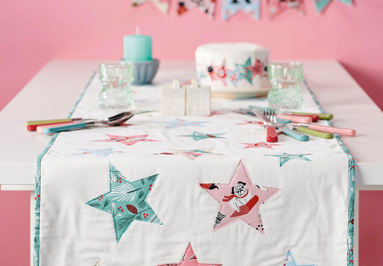 Make your own festive Christmas table runner pattern