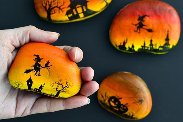 17 best Halloween rock painting ideas - Gathered