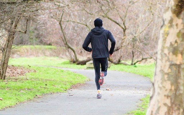 Joe Beer in run training