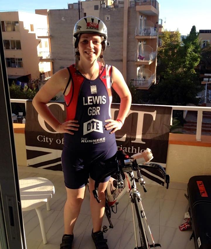 Niamh Lewis on her balcony ahead of Challenge Paguera-Mallorca 2014