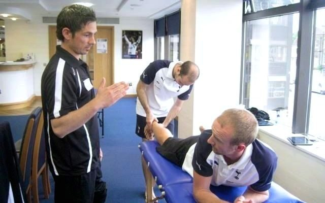 Athlete on the physio table