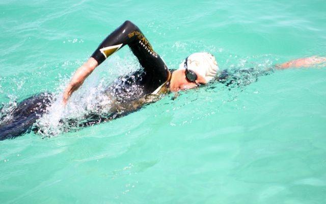 Chrissie Wellington in open-water swim training
