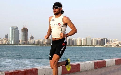 Triathlete racing in Dubai