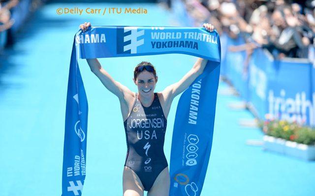 Gwen Jorgensen wins WTS Yokohama 2014