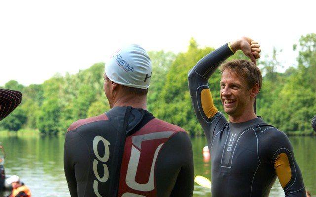 Jenson Button prepares for JB Trust Triathlon