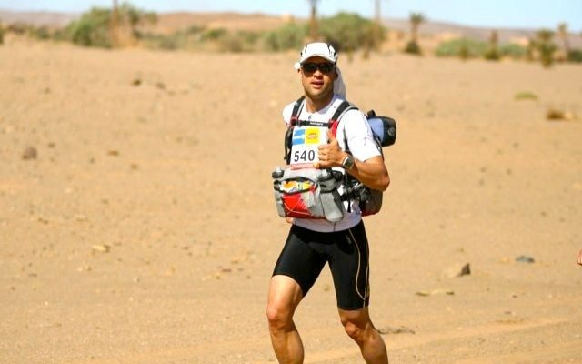 Luke Tyburski racing in the Sahara