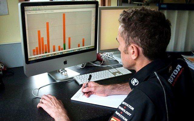 Triathlete using analysis to measure performance