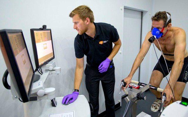 Tim Heming at the Human Performance Lab