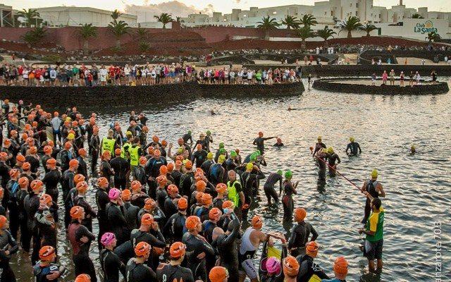 Swim start at Ironman Lanzarote