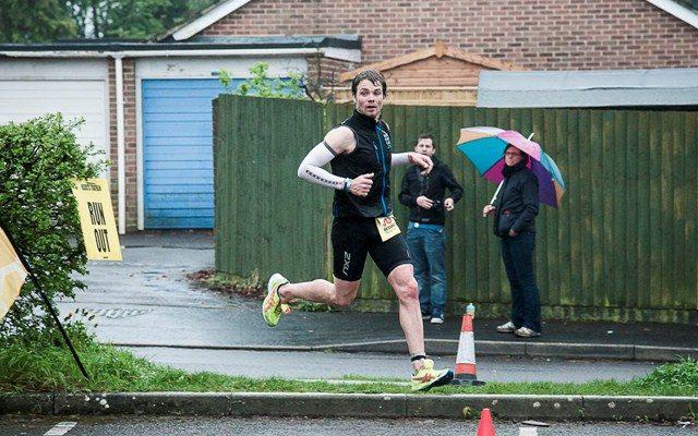 Triathlete on the run