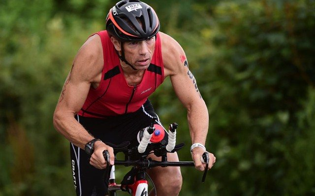 Ironman athlete on the bike