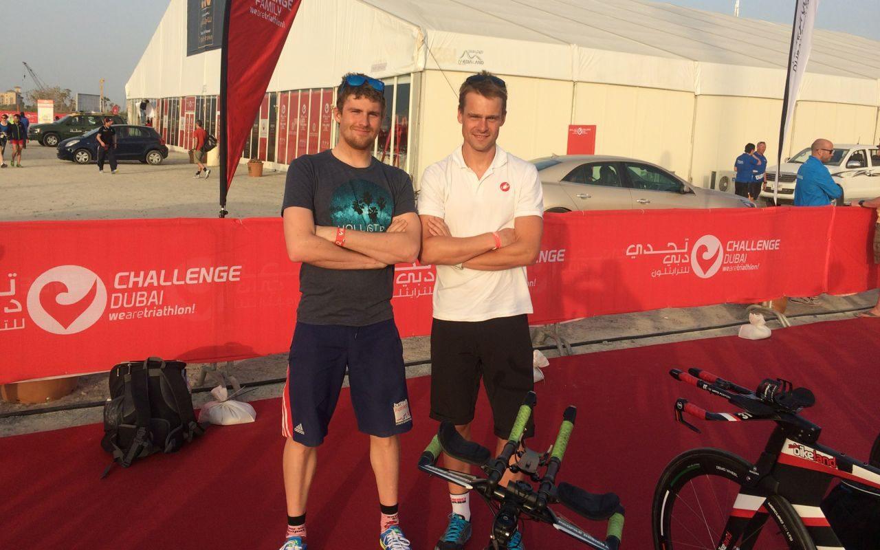 David McNamee (left) and training partner Fraser Cartmell
