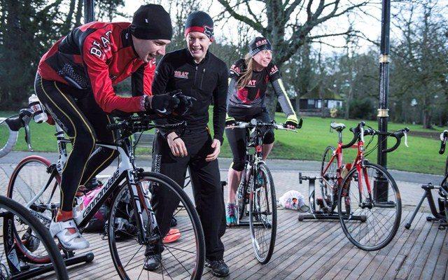 UK triathlon club training session