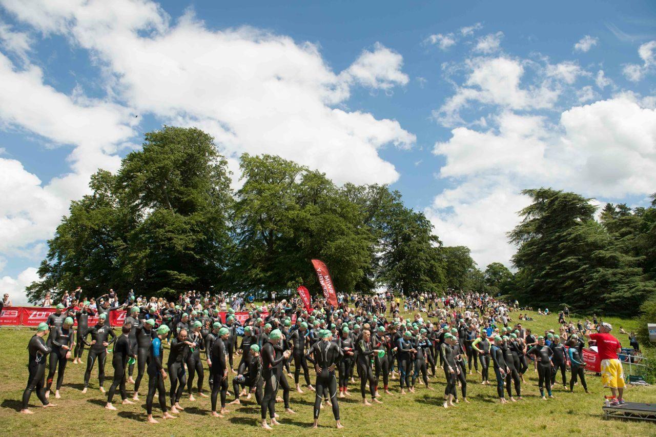 Athletes at Blenheim Palace Triathlon