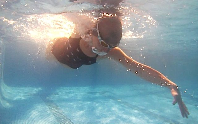 Pool sessions are used to focus on drills and stroke correction