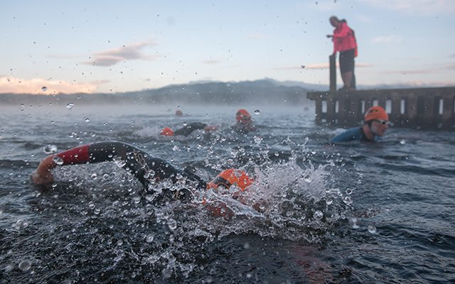 Triathlon X - swimmers in the beautiful Ullswater © Steve Ashworth