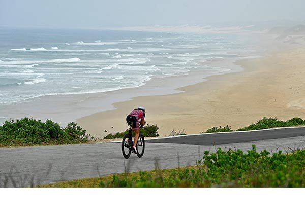 A triathlete on bike during the 2018 Isuzu Ironman 70.3 World Championships in Port Elizabeth, South Africa. Credit: Donald Miralle / Stringer / Getty Images Europe