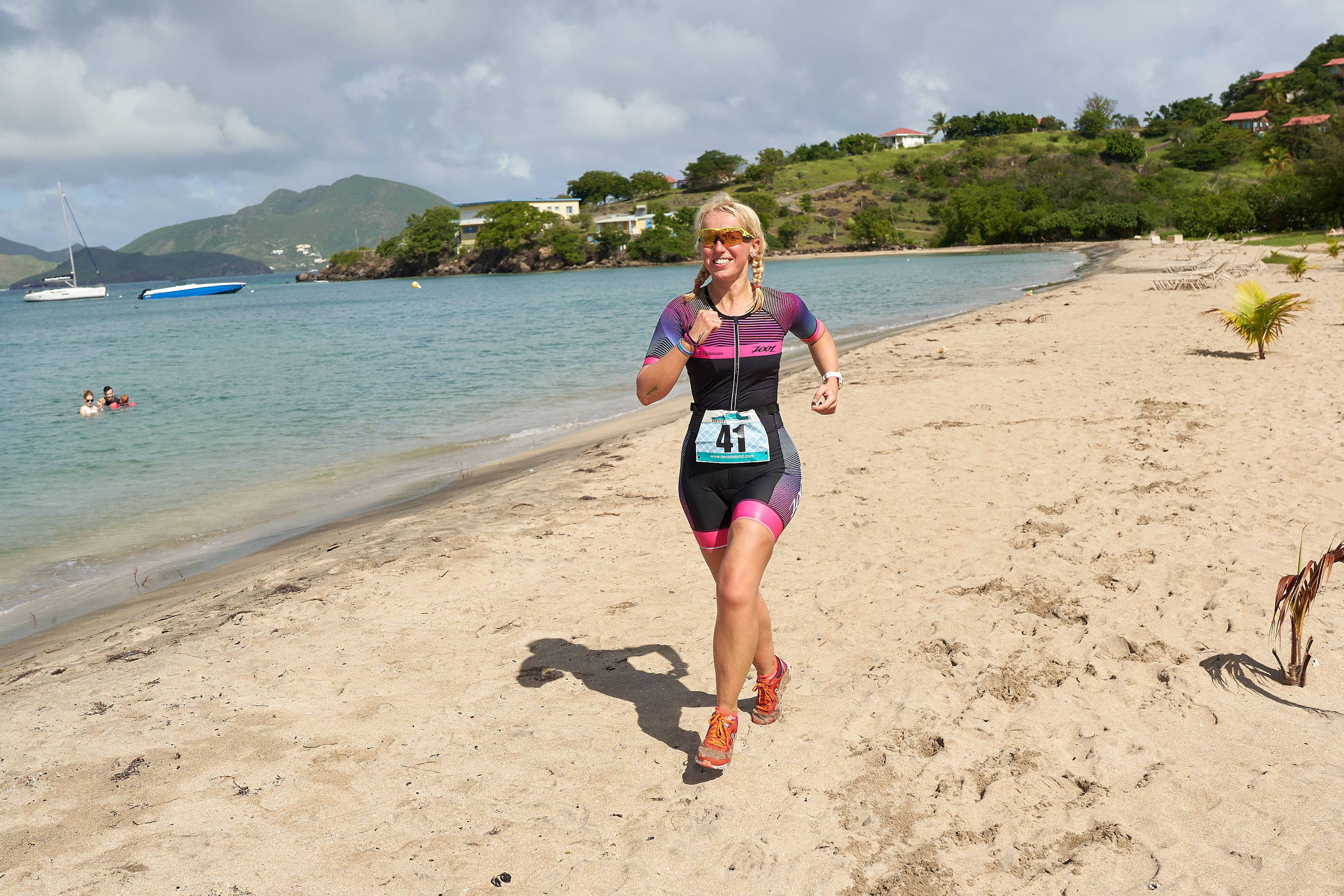 Helen on the beach finish of this year