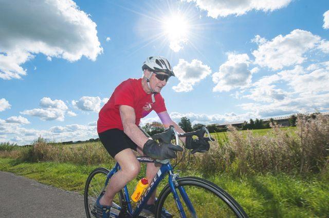 Arthus on his bike