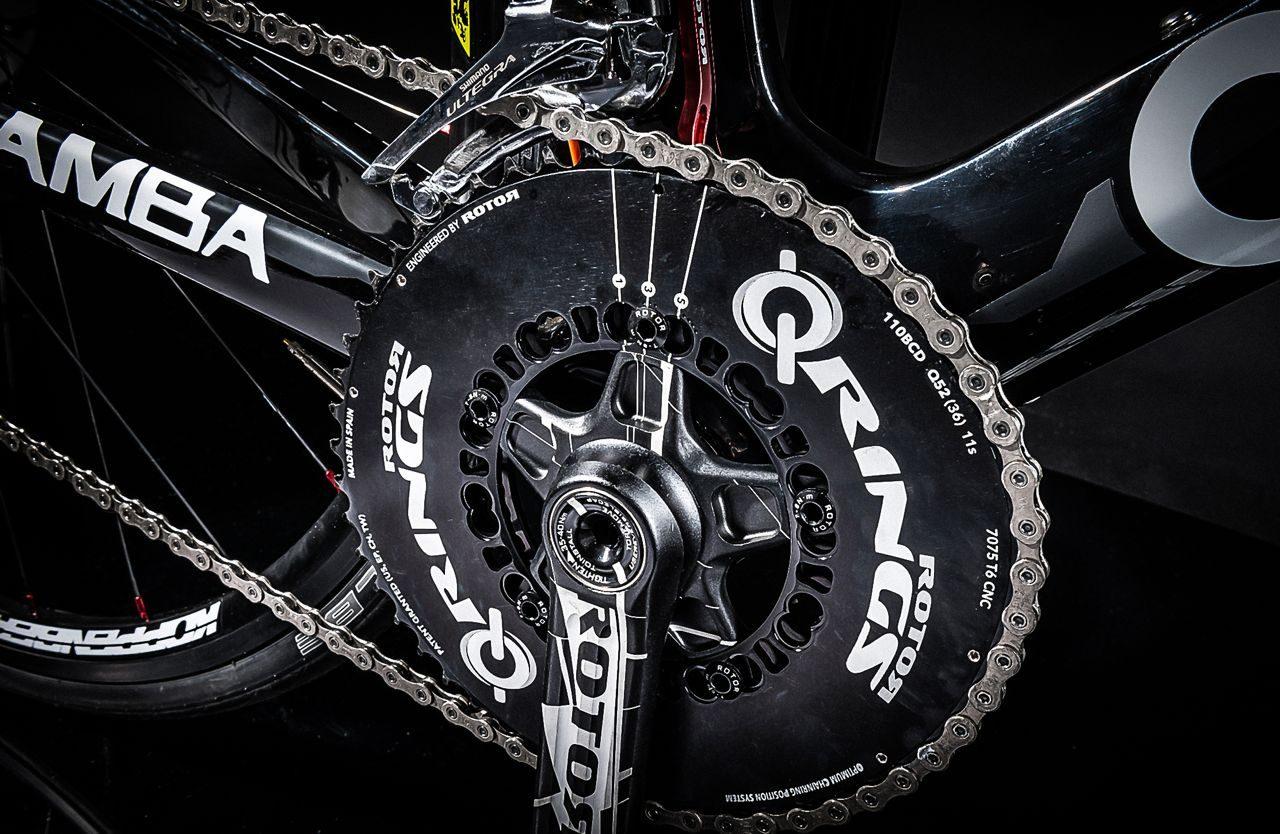 Rotor's 3D+ crankset on Ceepo Mamba