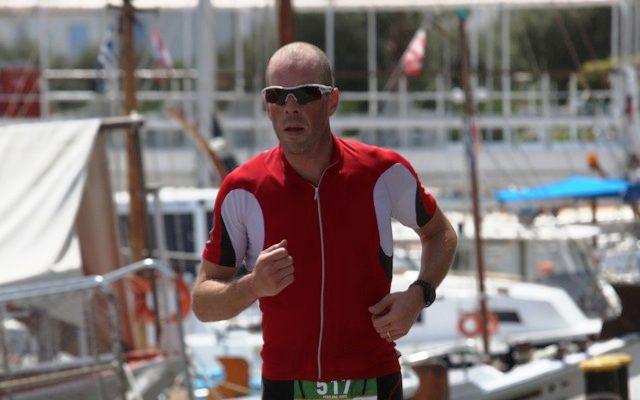 Jamie Freeland on the 10km run