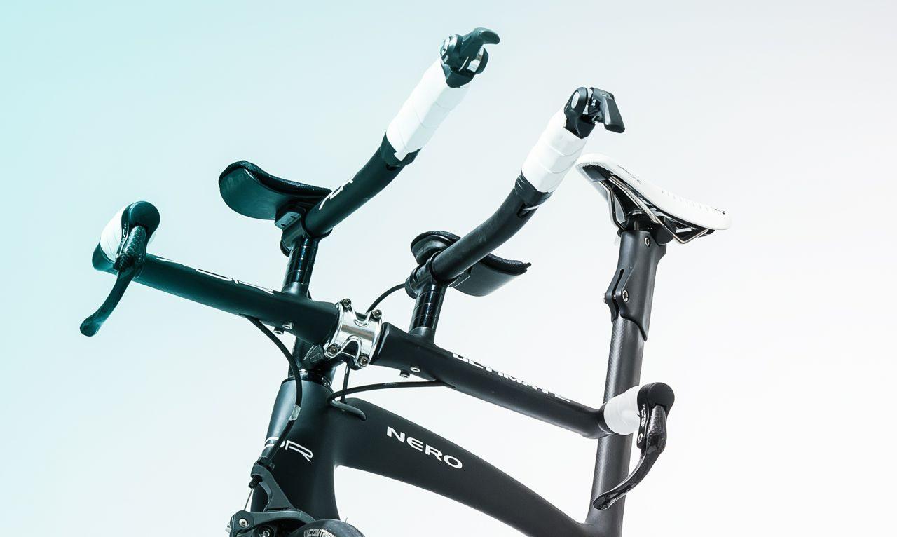 Cockpit of ADR's new Nero Ultegra TT bike