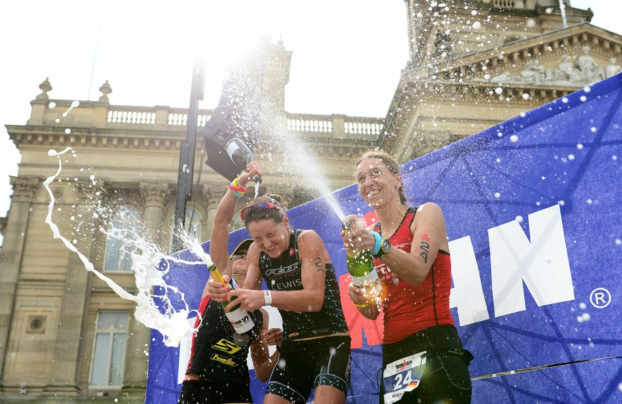 Female podium at Ironman UK 2014