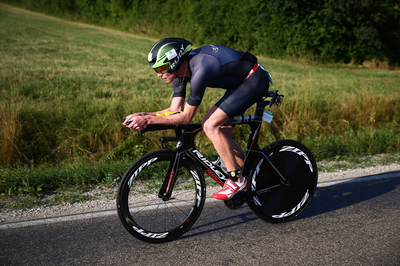 David Dellow on the bike at Challenge Roth 2015