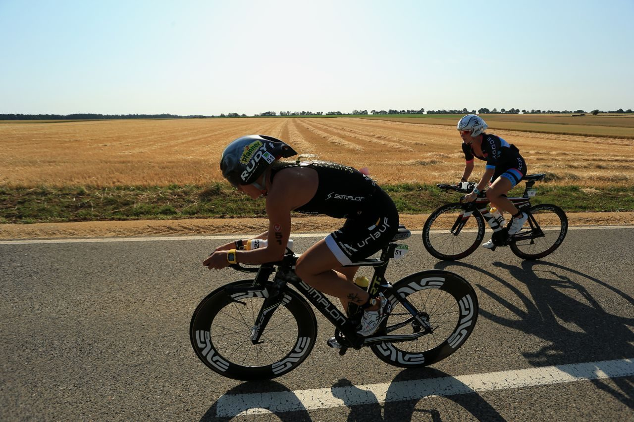 Leading women on the bike at Challenge Roth 2015