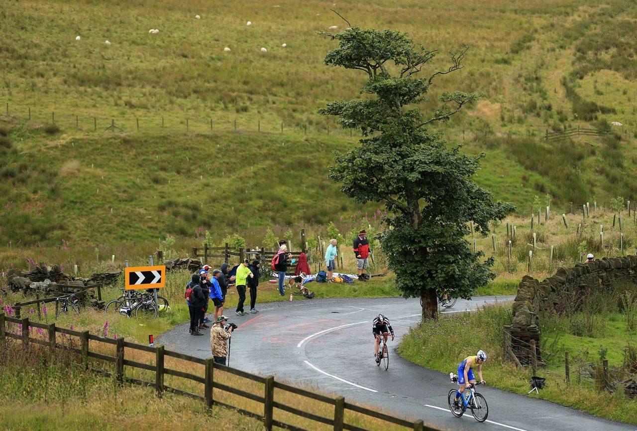 Athletes on the bike at Ironman UK