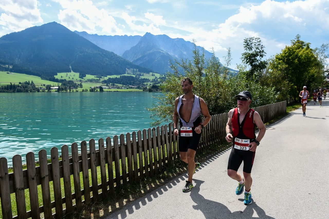 Men running at Challenge Walchsee 2015
